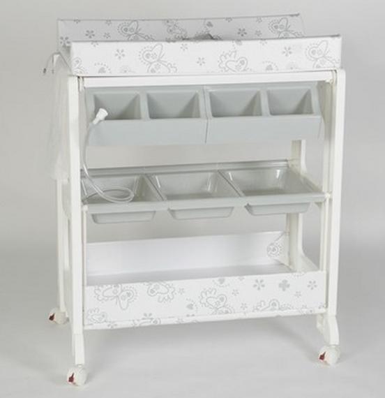 table langer avec rangements butterfly les b b s du. Black Bedroom Furniture Sets. Home Design Ideas