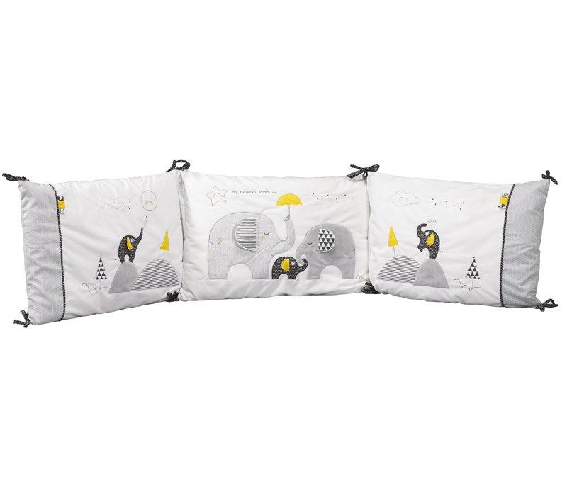 tour de lit babyfan sauthon les b b s du bonheur. Black Bedroom Furniture Sets. Home Design Ideas