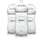 Lot 3 biberons 300 ml Natural Avent