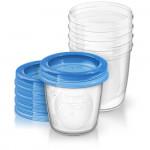 5 pots de conservation lait maternel 180 ml Avent