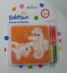 Cartes de bain bébé à colorier Babysun