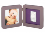 Print frame taupe & lime/plum Baby Art