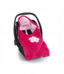 Couverture siège auto biside softy akimi fuschia Baby boum