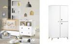 Lit combiné + armoire Oslo Sauthon avec tiroir - gouttes