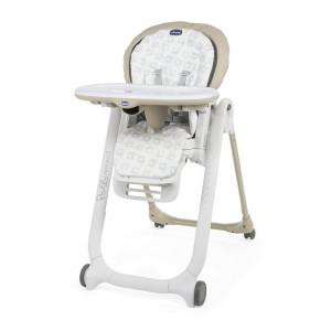 Chaise haute bébé Polly Progres5 beige Chicco