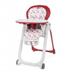 Chaise haute bébé Polly Progres5 red Chicco