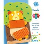 Puzzle animaux Arbra doudou Djeco