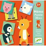 Mémo animo puzzle 30 pièces Djeco