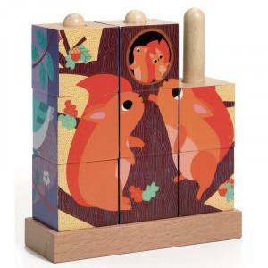 Puzz-up forest - Puzzle cube en bois - Djeco