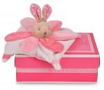 Mini doudou collector Lapin rose - Doudou et Cie