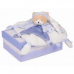 Doudou ours petit chou bleu Doudou et Compagnie