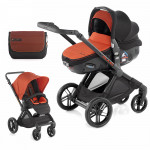 Pack poussette duo Muum avec Matrix light 2 orange