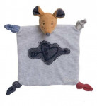 Doudou souris coeur tendre blue denim Kaloo