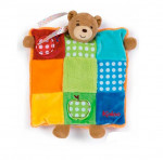 Doudou ourson patchwork marionnette colors Kaloo
