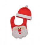 Bonnet et bavoir Père Noël King Bear