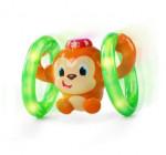 Jouet singe roulant effets lumineux et sonores