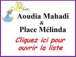 Liste de naissance Aoudia Mahadi & Place Mélinda