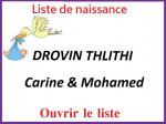 DROVIN THLITHI Carine et Mohamed