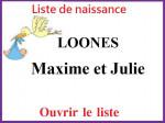 Liste de naissance Julie & Maxime LOONES