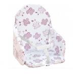 Coussin de chaise PVC avec sangles Lapin cassis