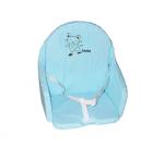 Coussin de chaise PVC avec sangles bleu lagon