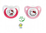 Lot de 2 sucettes silicone 6-18 M hello kitty