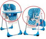 housse de chaise polly 2 en 1 Chicco - bleu