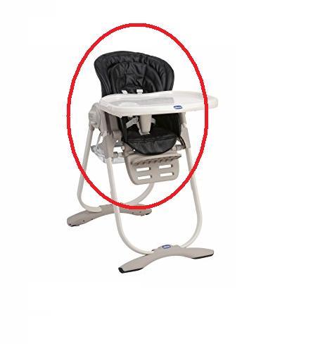 Housse de chaise polly magic chicco noire les b b s du for Housse de chaise noire