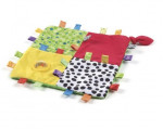 Doudou carre étiquettes loopy loops Playgro