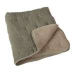 Couverture luxe en mousseline de soie Kaki/beige Quax