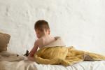 Couverture luxe en mousseline de soie Saffran/beige Quax