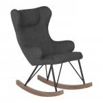 Rocking Kids Chair De Luxe - Black Quax