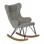 Rocking Kids Chair De Luxe - sand grey Quax