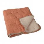 Couverture luxe en mousseline de soie Abri/ecru Quax