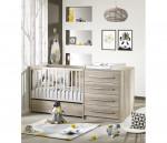 Lit bébé combiné 120x60 transformable lit 90x190 commode + armoire Emmy