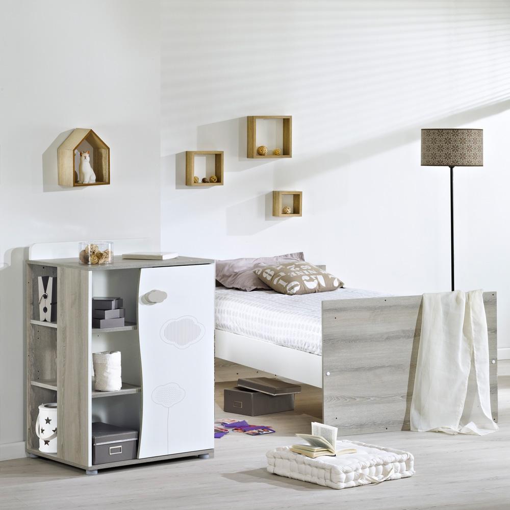 lit combin 120x60 nael armoire sauthon les b b s du bonheur. Black Bedroom Furniture Sets. Home Design Ideas