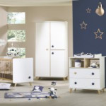 Chambre Oslo gouttes Little Big Bed 140x70 commode et armoire