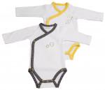 Lot de 2 bodies bébé pur coton manches longues BABYFAN