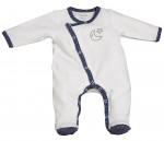 Pyjama velours blanc MERLIN Sauthon