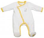 Pyjama velours blanc/jaune BABYFAN