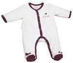 Pyjama velours blanc/violet MAMZELLE BOU