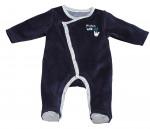 Pyjama velours bleu marine MISTER BOUH