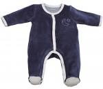 Pyjama velours bleu MERLIN Sauthon